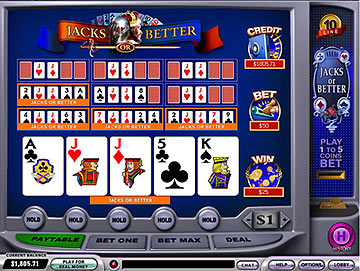 Video Poker-10 line Jacks